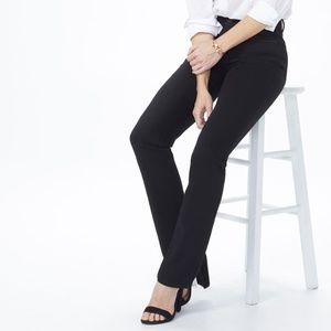 NYDJ 4 Marilyn High Waist Straight Leg Jean Black